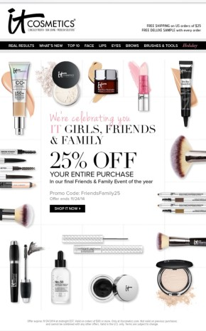 Must Do ::: It Cosmetics Friends and Family Sale
